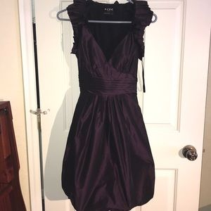 BCBG maroon purple dress homecoming prom size2